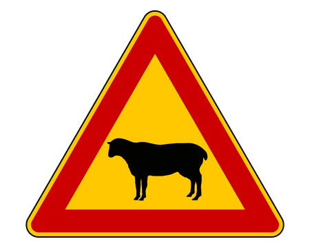 sheep warning: Sheep warning sign