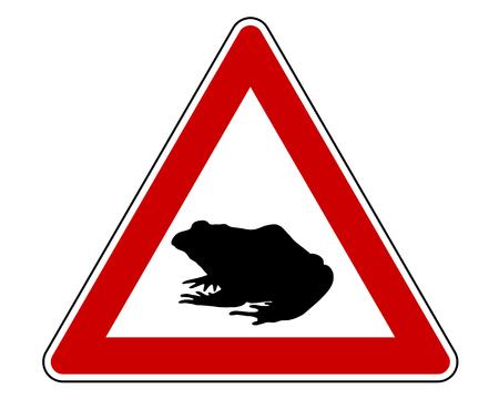 migraci�n: Se�al de advertencia de migraci�n Sapo