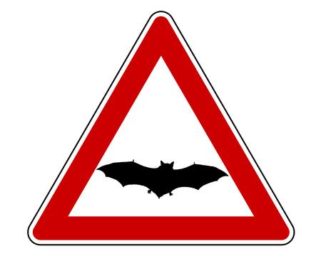 the bloodsucker: Bat warning sign Illustration
