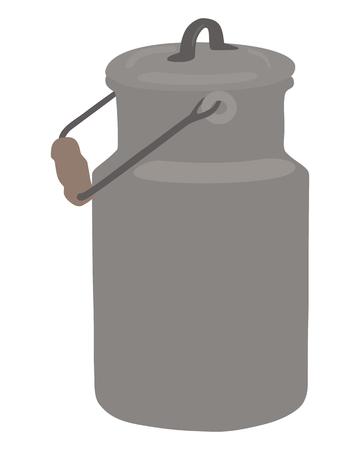 tarnished: Old milk can Illustration