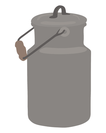 tarnished: Old milk can Illustration