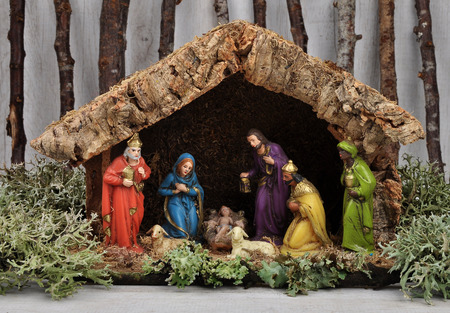 Christmas crib Zdjęcie Seryjne