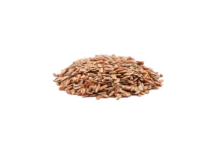 flaxseed: Flaxseed on white Stock Photo