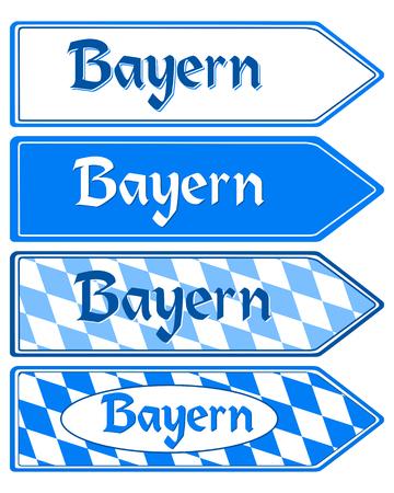 post scripts: Signpost Bayern Illustration