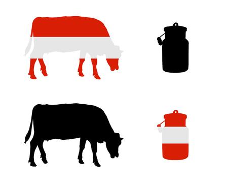 Austrian milk cow Illustration