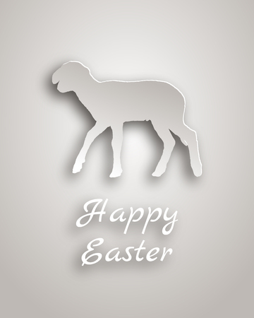 lambkin: Lamb paper style Illustration