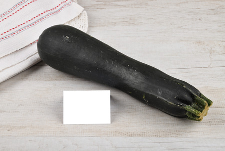 describable: Zucchini and card
