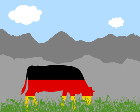 herbage: Cow alp and german flag