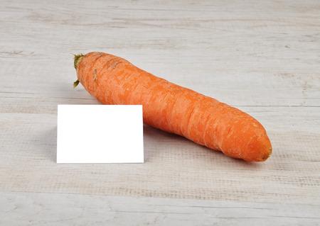 describable: Carrot and card
