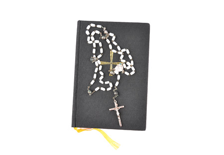 hymn: Prayer book with chaplet
