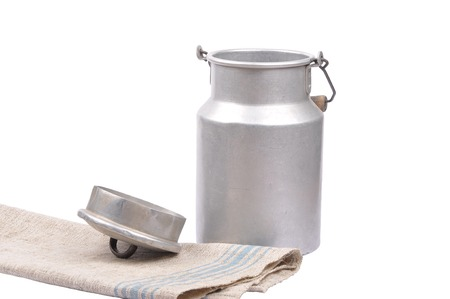 tarnished: Milk can open Stock Photo