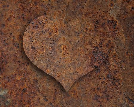 rust: Heart of rust Stock Photo