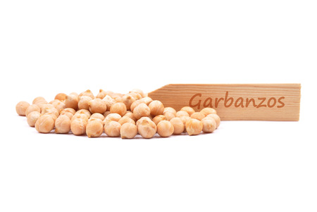 Garbanzos on white Stock Photo