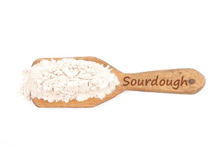 describable: Sourdough dried on shovel