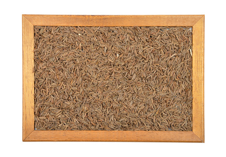 caraway: Caraway seeds in frame Stock Photo