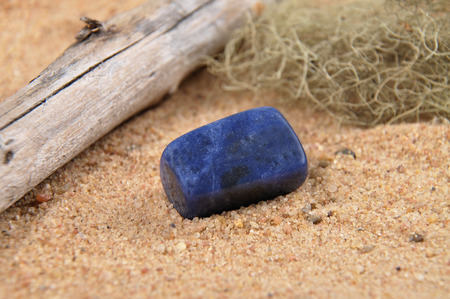 sodalite: Sodalite on beach