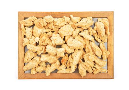 granules: Soy granules at plate
