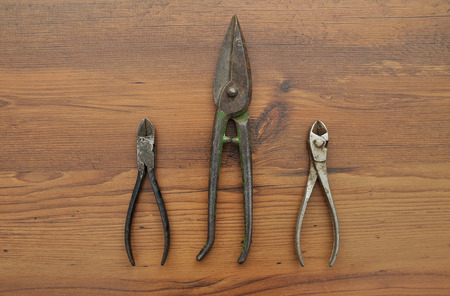 snips: Pair of snips and diagonal pliers