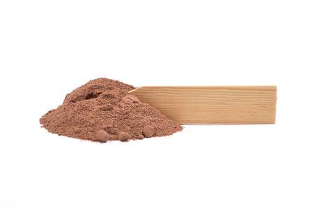 describable: Cocoa at plate Stock Photo