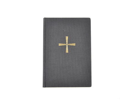 hymn: Prayer book on white