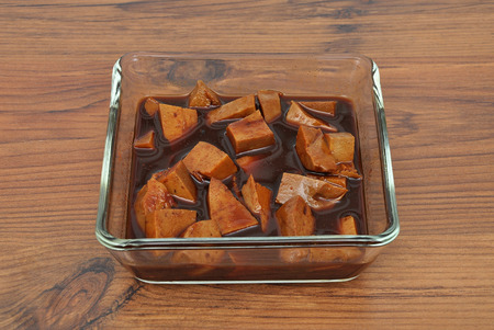 marinade: Tofu in marinade