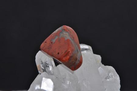 jasper: Jasper on rock crystal Stock Photo