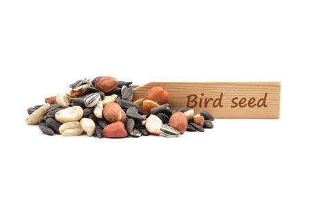 describable: Bird seed at plate