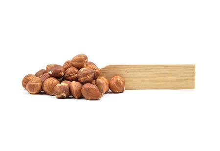 describable: Hazelnuts on white Stock Photo