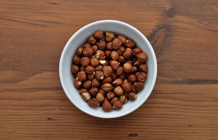 cobnut: Bowl with hazelnuts