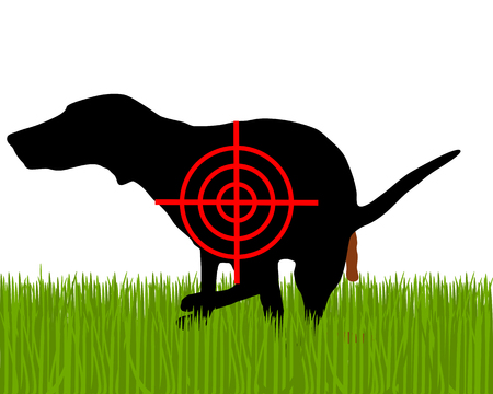 dejection: Aim at dogs crapping
