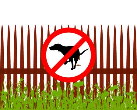 interdiction: Interdiction signe chien CRAPPING Illustration