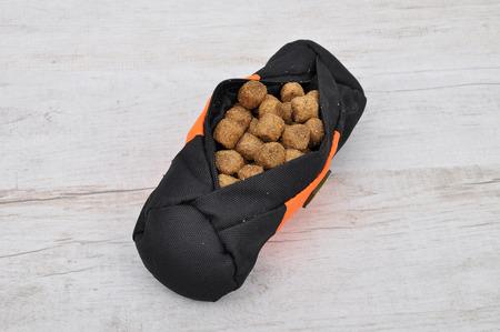 fetch: Fetch lined bag with dog feeding