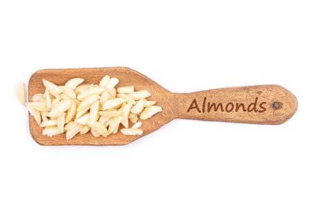 slivers: Almond slivers on shovel