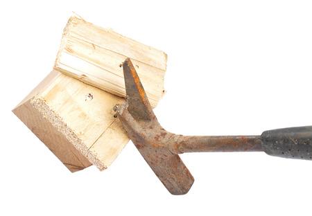 claw: Claw hammer on wood