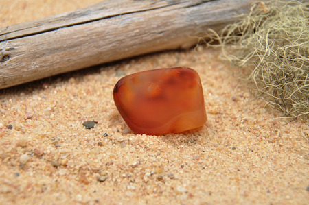 carnelian: Carnelian on beach Stock Photo
