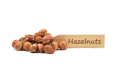 Hazelnuts on plate