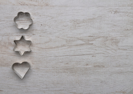 cooky: Cooky cutters background Stock Photo