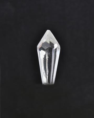 crystal glass: Glass crystal on black