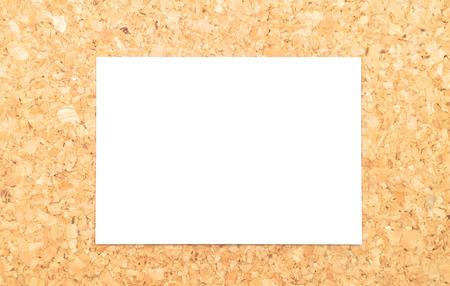 writable: Sheet of paper on cork