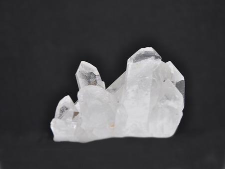 gemology: Rock crystal on black