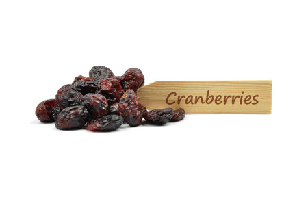 describable: Dried cranberries at plate
