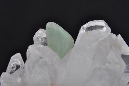 gemology: Topaz on rock crystal