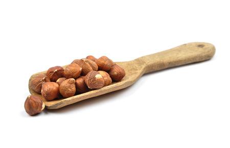 cobnut: Hazelnuts on shovel
