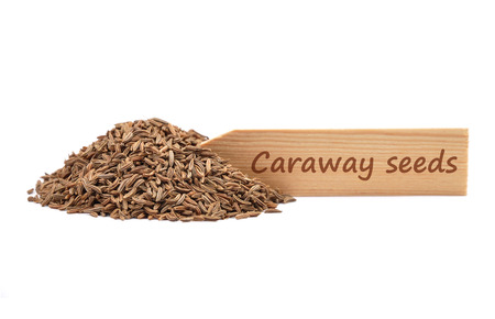 describable: Caraway seeds on plate