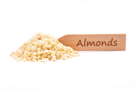 describable: Almonds on plate