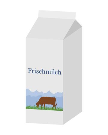 carton de leche: Bio cartón de leche