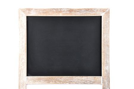 describable: Black board on white background Stock Photo