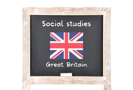 regime: Social studies with flag on board
