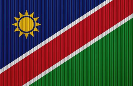 Flag on corrugated iron