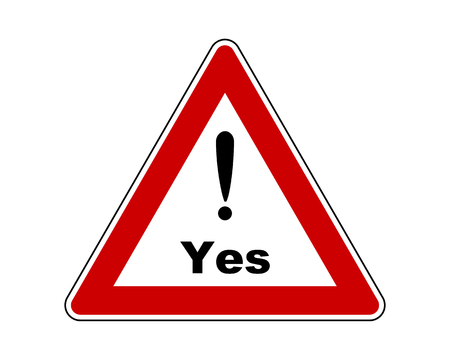 Attention sign yes with exclamation mark Illustration